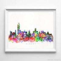 New York Skyline Watercolor. new york skyline watercolor ...