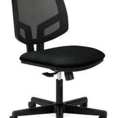 Task Chair Without Arms Rent Covers Cheap Volt Standard Fabric Seat Black Mesh Back