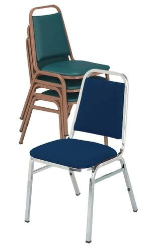 upholstered stacking chairs antique victorian folding rocking chair vinyl 1 2 seat chrome frame atd