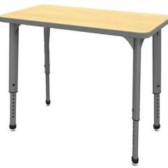 Ergonomic Mesh Chair Indoor Wicker Hanging Apex™ Series Height Adjustable Student Desk, Rectangle, 20