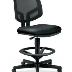 Task Chair Without Arms Tulle Covers For Wedding Volt Stool Black Leather Seat Mesh Back