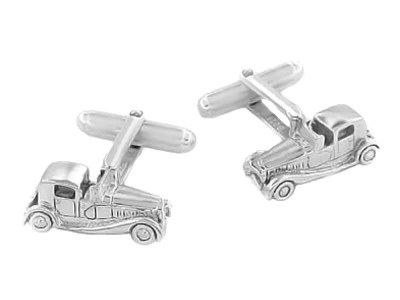 Antique Car Cufflinks In Sterling Silver Antique Jewelry