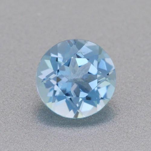 Loose 032 Carat Natural Round Aquamarine Gemstone 46mm