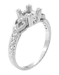 Loving Hearts 1/2 Carat Princess Cut Diamond Engraved ...