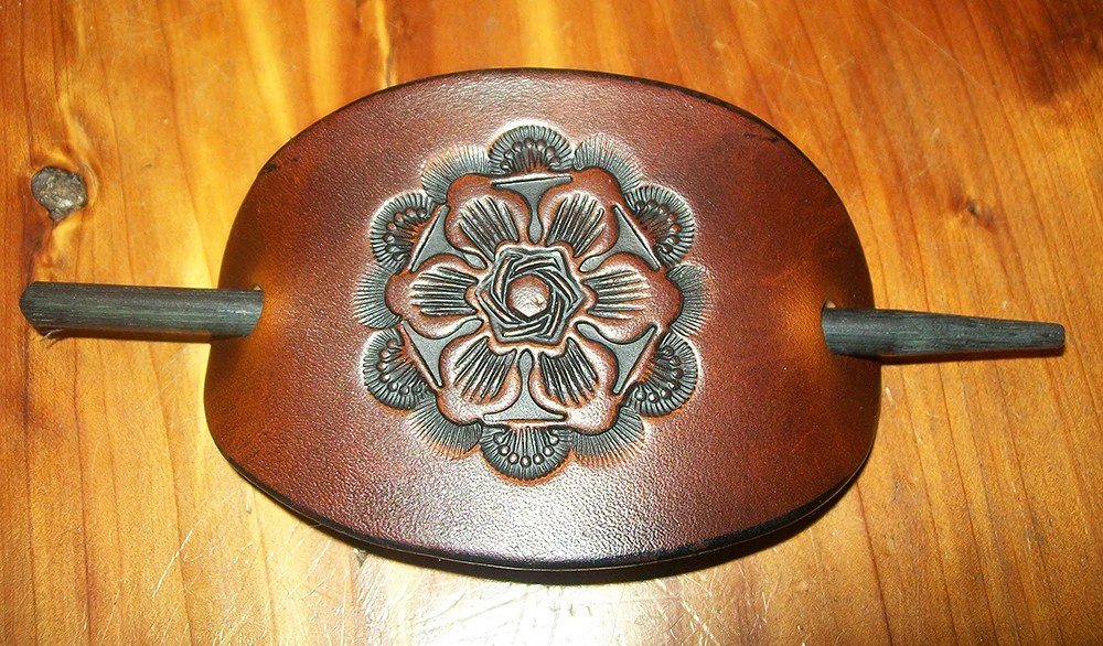 extra large kitchen sink step 2 little bakers tooled leather hair barrette antique flower – old school ...