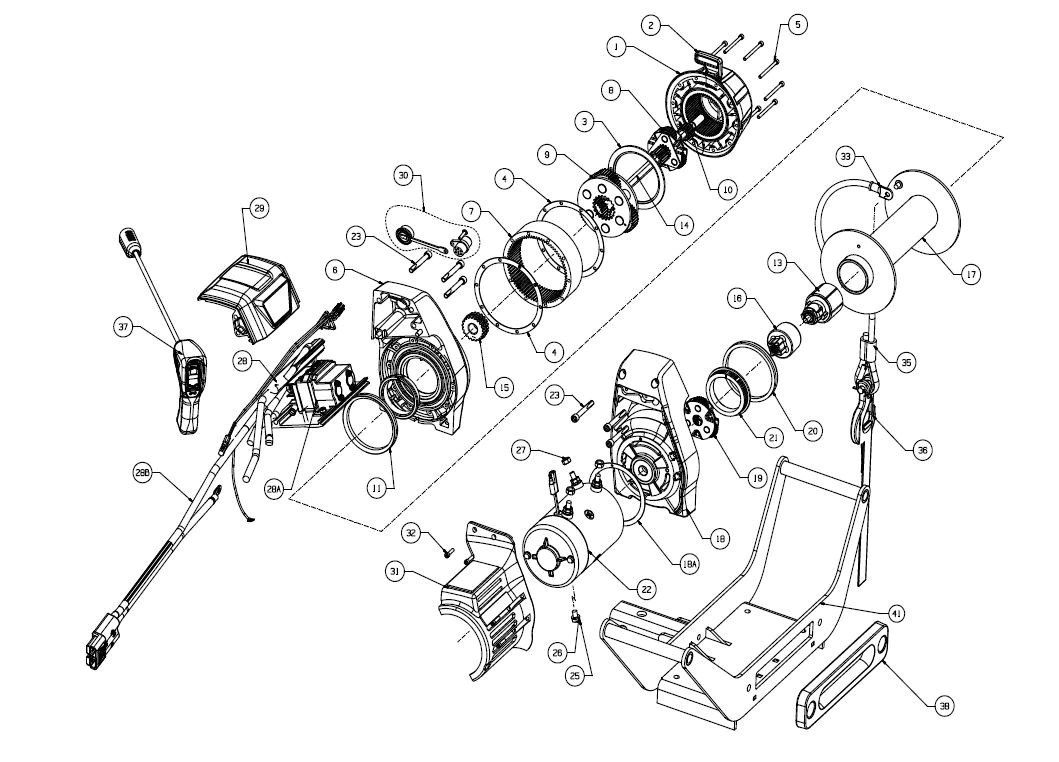 hight resolution of warn 9 5cti multi mount truck winch exploded view