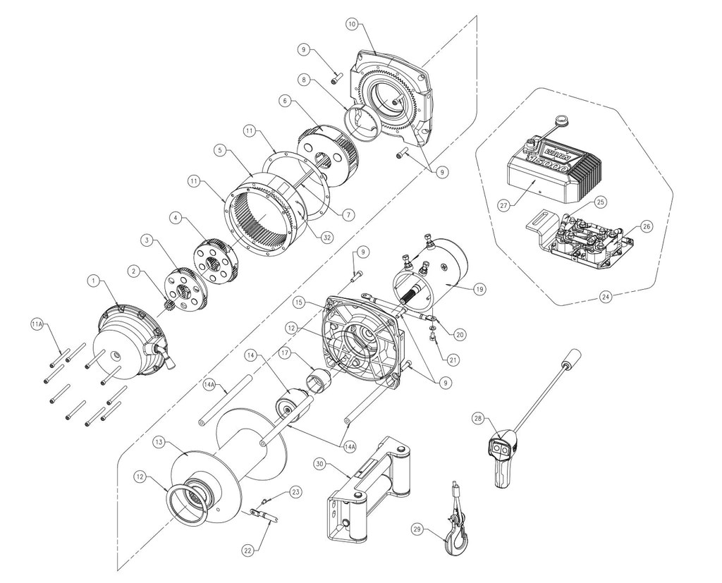 small resolution of warn m15000 truck winch parts