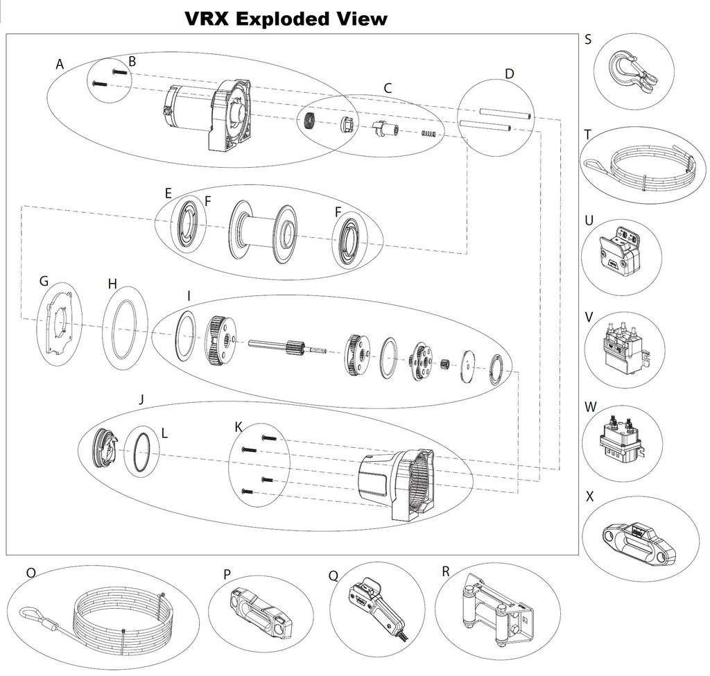 small resolution of  warn vrx 4500 atv winch parts montana jacks outpost warn xt atv winch wiring diagram