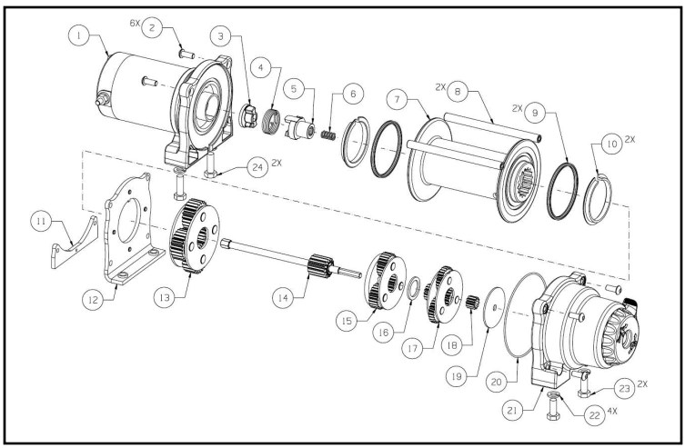 Warn Winches Schematic Warn Vantage 4000 Winch Parts Montana Jacks Outpost