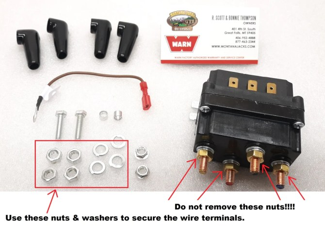 warn 100995 atv winch contactor for vrx 25 35 45