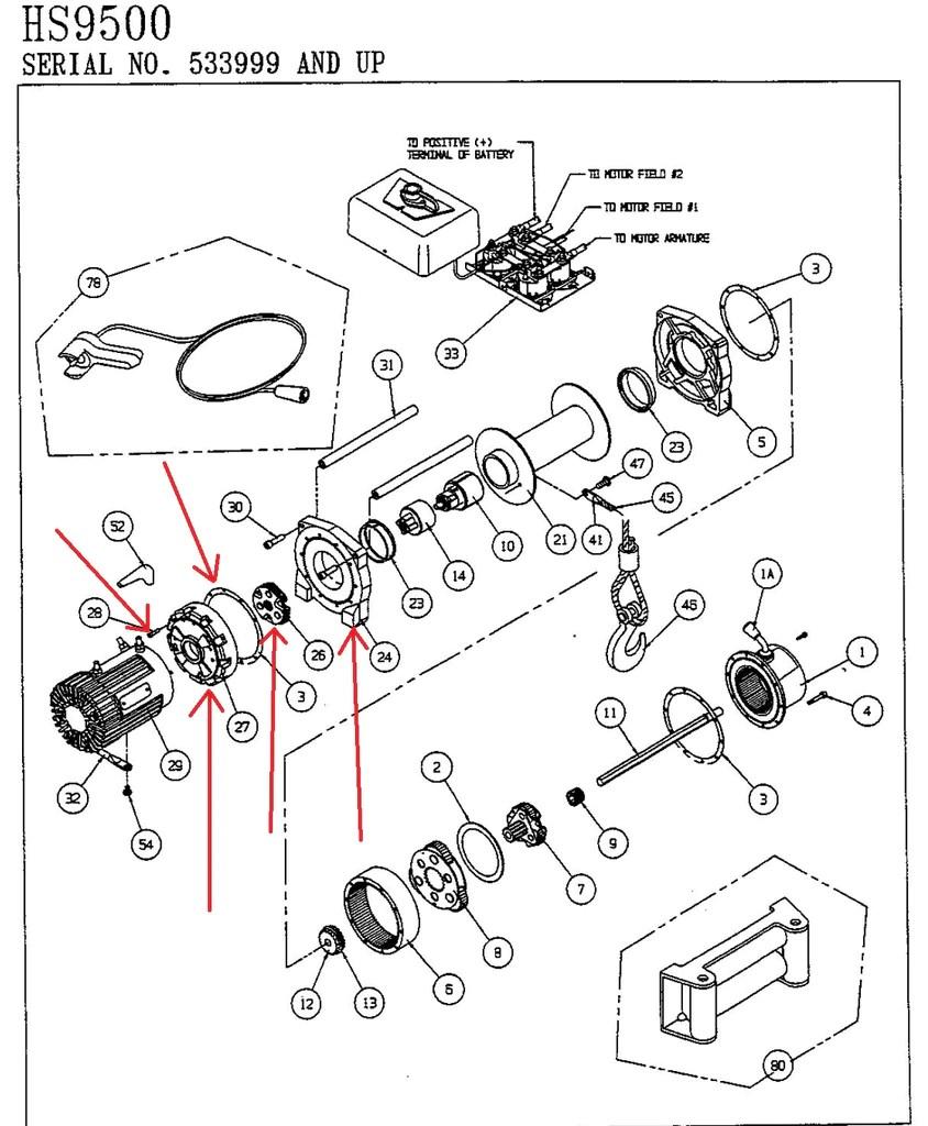 hight resolution of warn 39433 winch drum support kit warn 39433 winch drum support kit