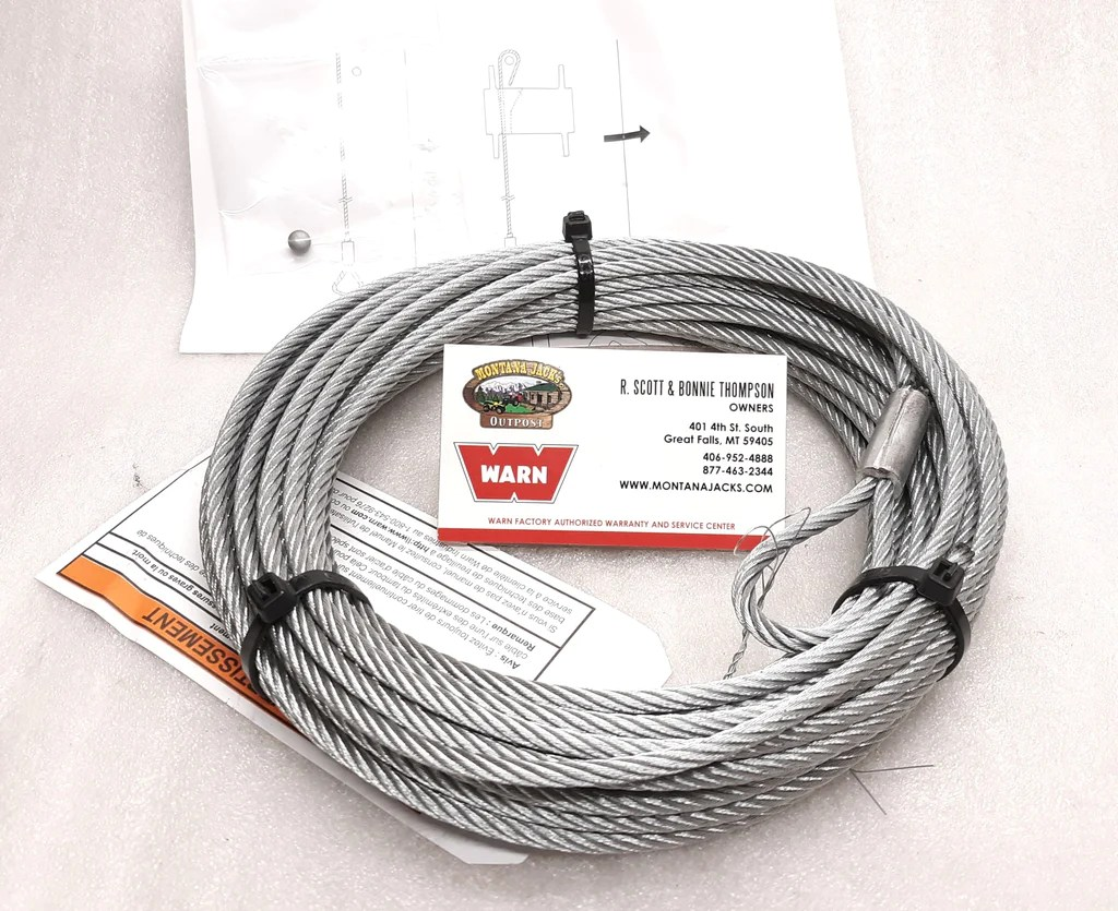 hight resolution of warn 60076 atv winch cable wire rope 3 16 x 50 ft fitment inwarn
