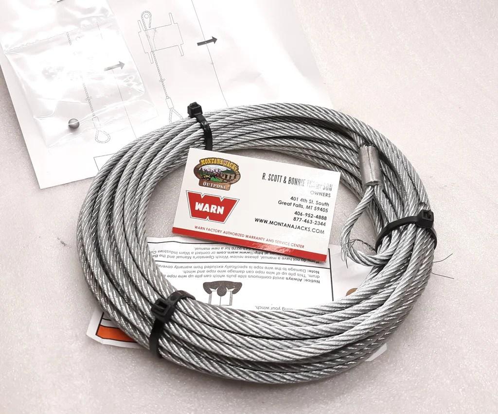 medium resolution of  warn 60076 atv replacement winch wire rope