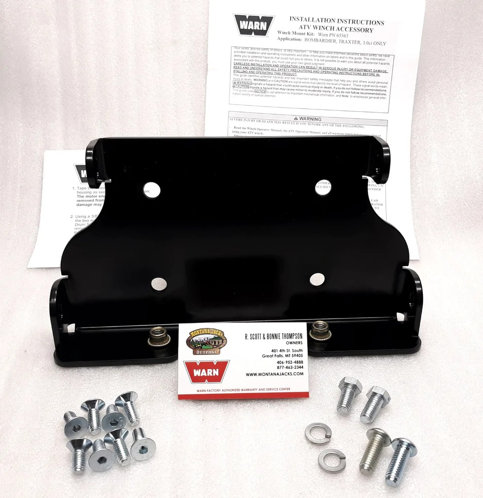 hight resolution of warn 65563 atv winch mount for 99 05 can am quest traxter montana jacks outpost
