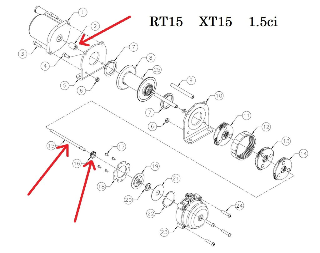 small resolution of  1 5 warn 69343 winch drive shaft kit for rt xt 15 xt 17 1 5