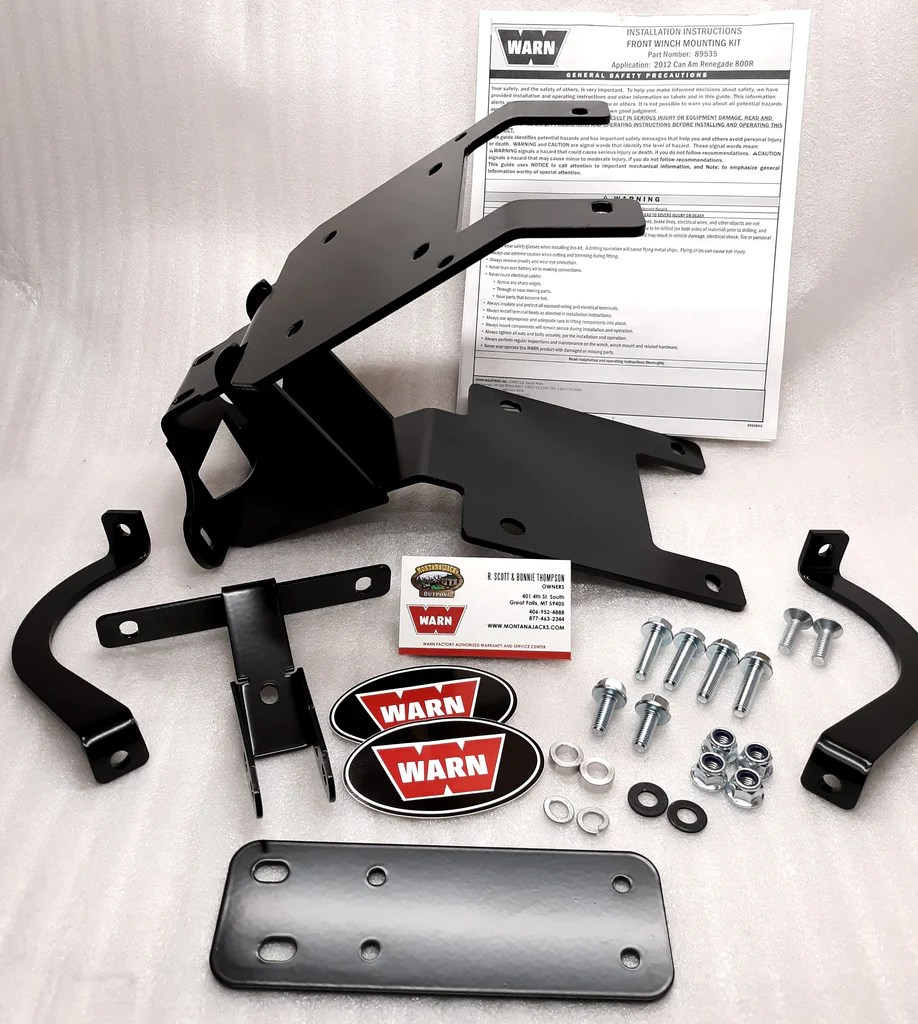 warn 89535 atv winch mount for can am free shipping montana jacks outpost [ 918 x 1024 Pixel ]
