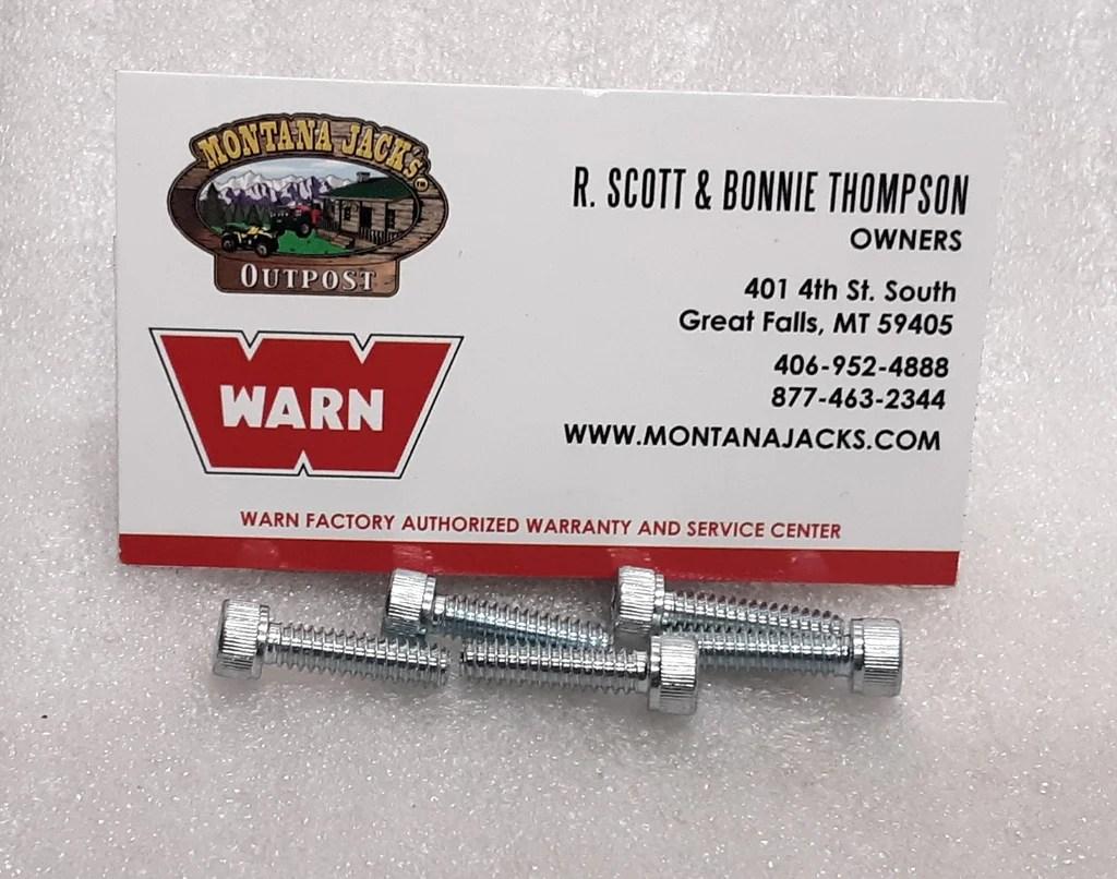 hight resolution of warn 98487 cap screws socket head 10 24 x 3 4 for 9 5ti 9 5cti win montana jacks outpost