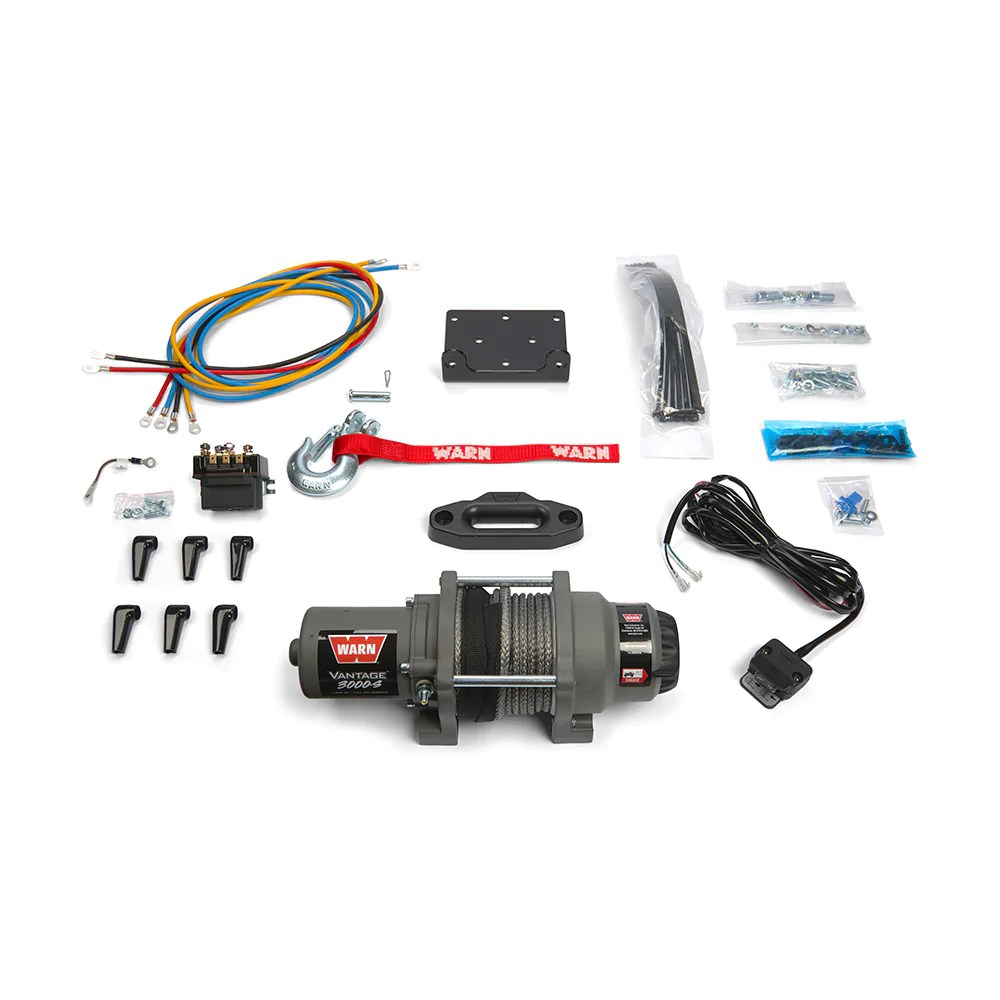 hight resolution of warn 99389 vantage 3000 s atv winch synthetic rope free shipping montana jacks outpost