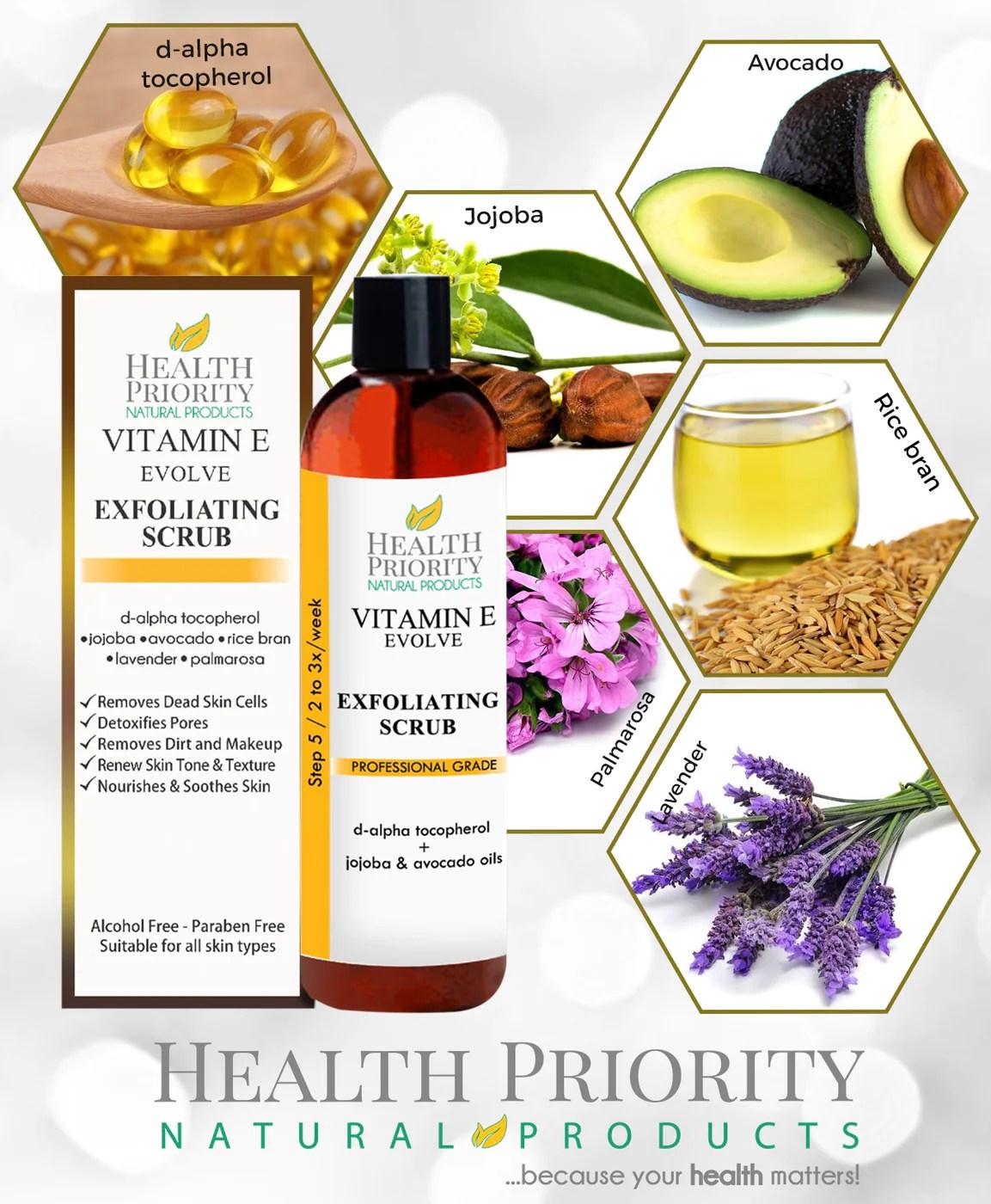 100% Natural Vitamin E Exfoliating Facial Scrub   Health ...