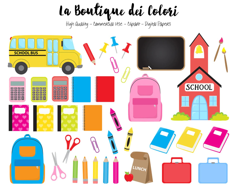 kids back to school clipart la boutique dei colori [ 1500 x 1192 Pixel ]