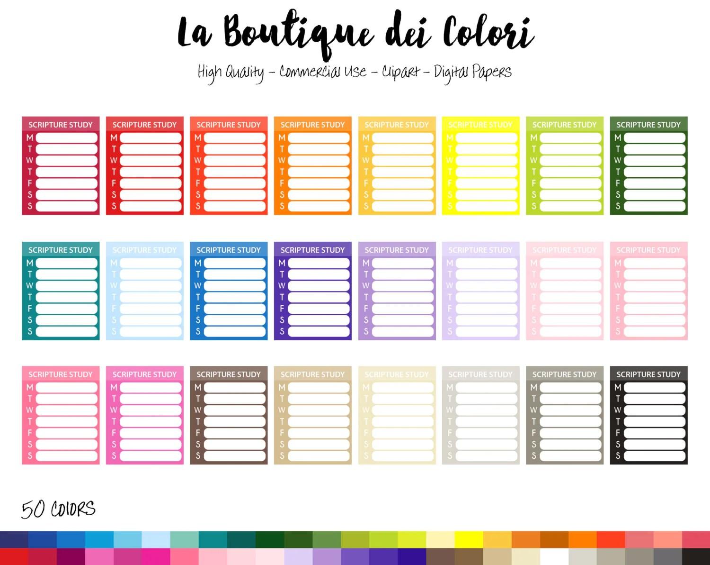medium resolution of scripture study planner clipart la boutique dei colori