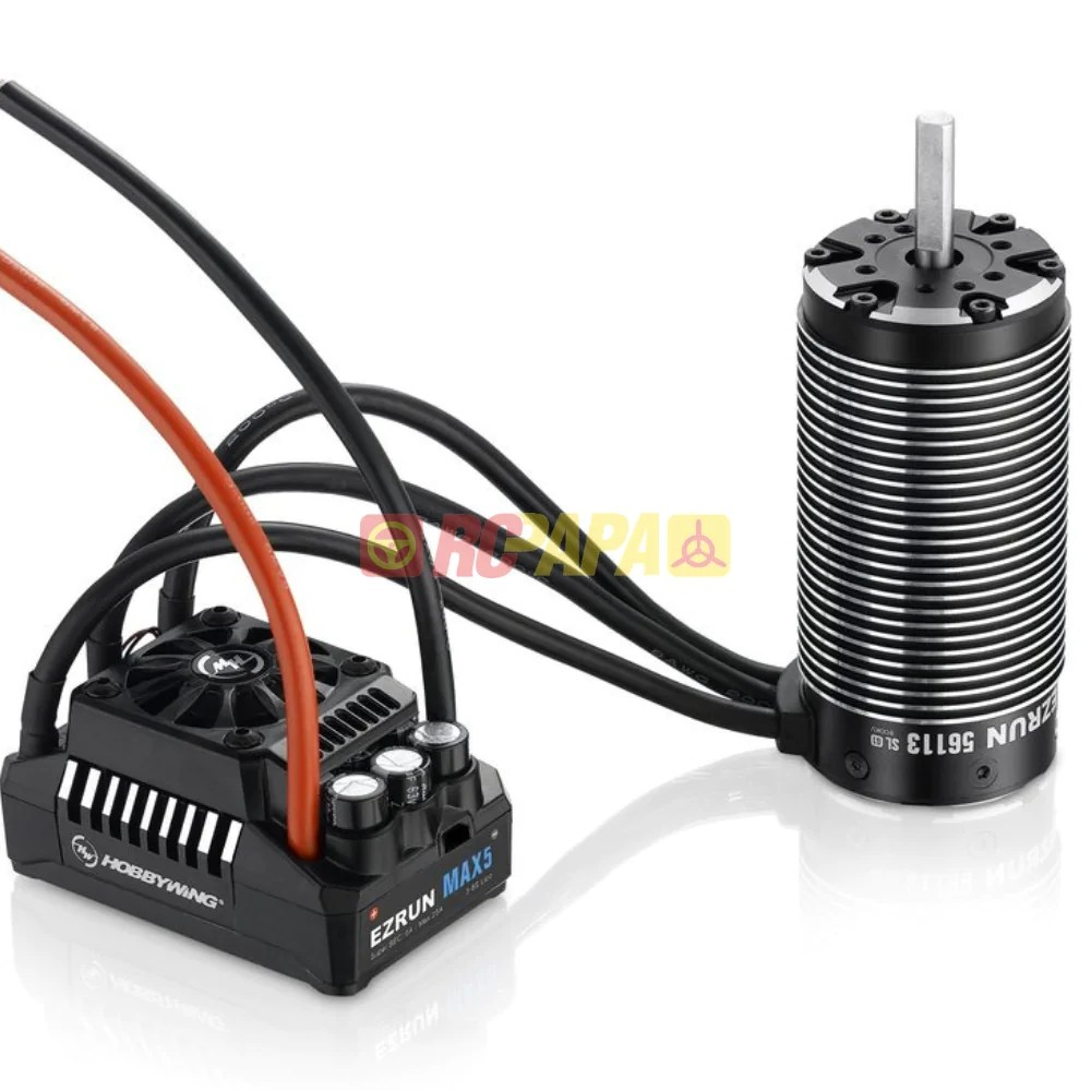 hight resolution of hobbywing ezrun max5 motor esc combo rc papa
