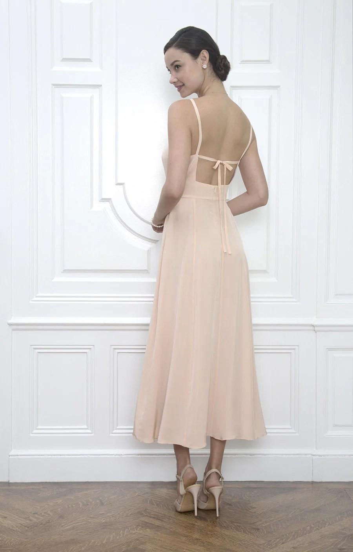 Tea Length Slip Wedding Dress