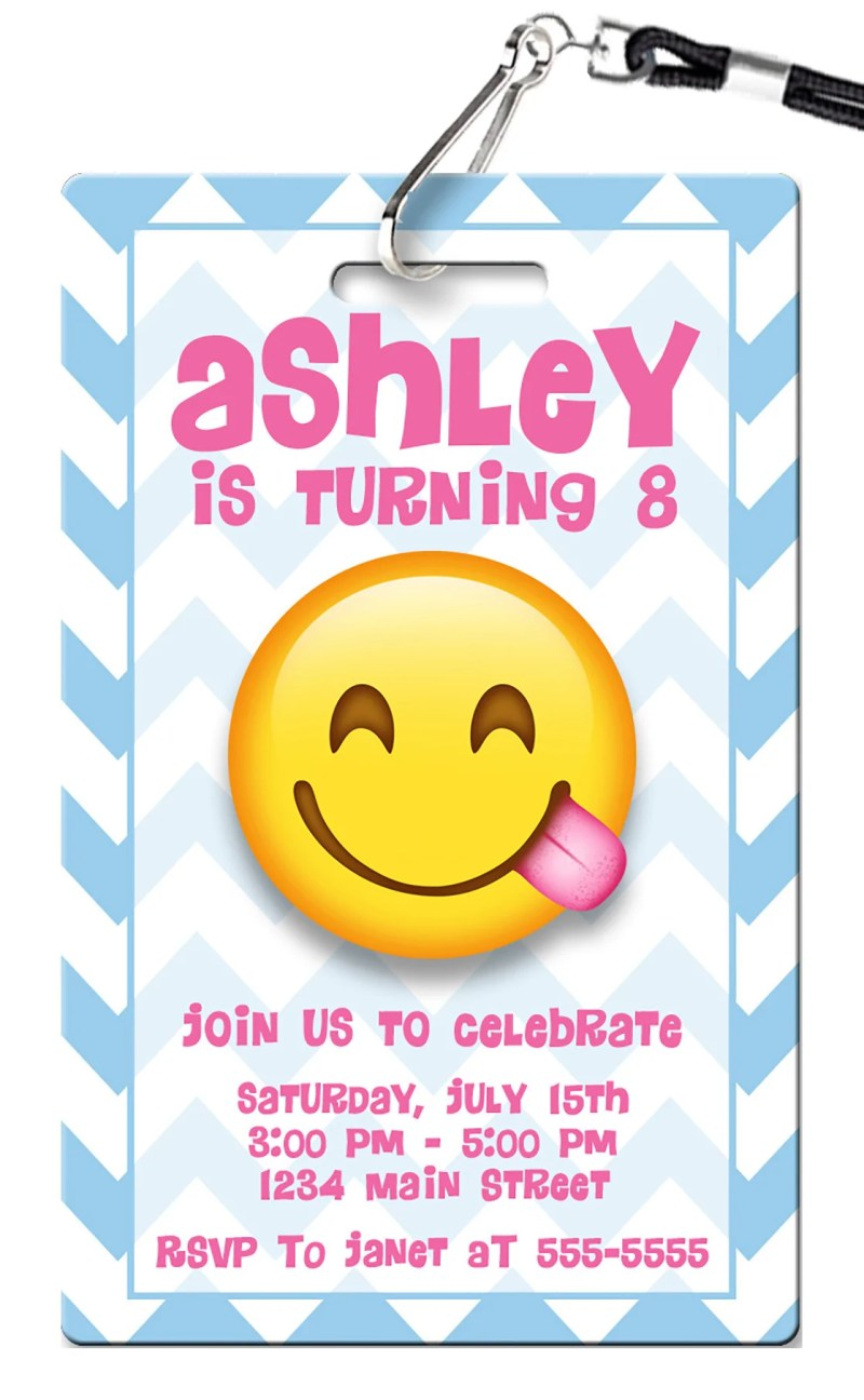 O Gracious Emoji Birthday Invitation