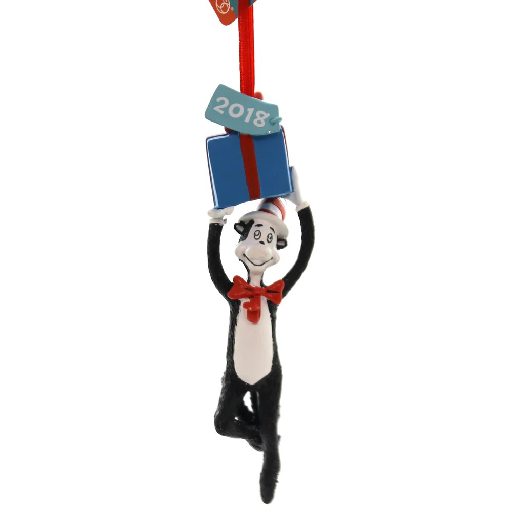 holiday ornaments cat with
