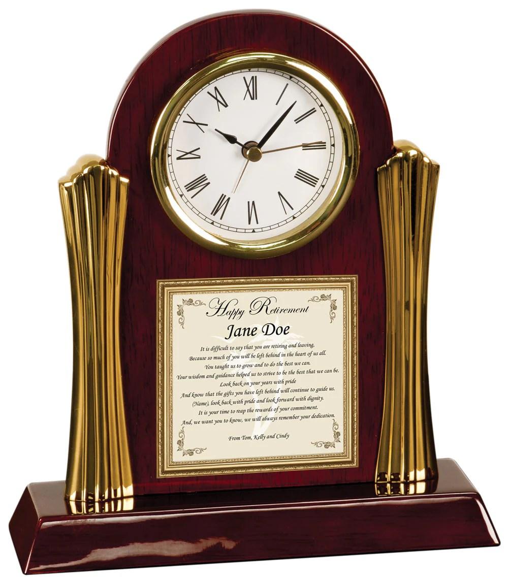 retirement gift clock for