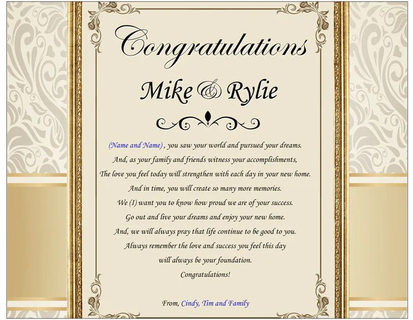 traditional housewarming gift poem plaque new house home