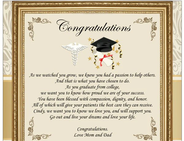 Graduation Gifts For New Doctor Physician Medical School