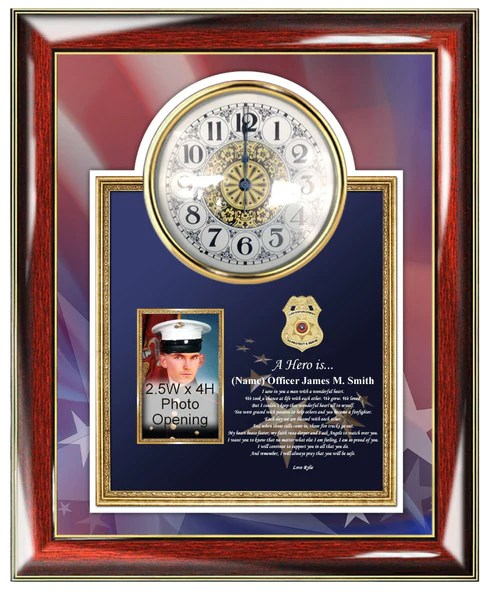 Law enforcement gifts for him sheriff police department husband clock