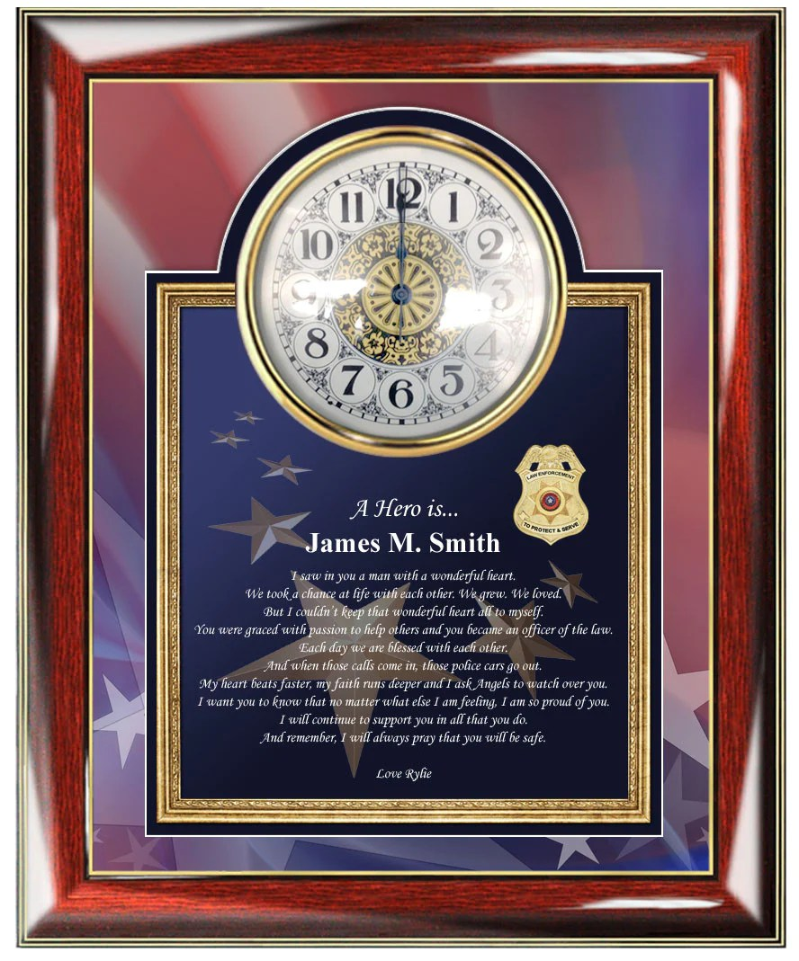 Personalized Police Gifts Sheriff Policeman Present Photo