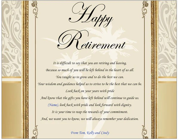 personalized retirement gifts coworker employee boss or