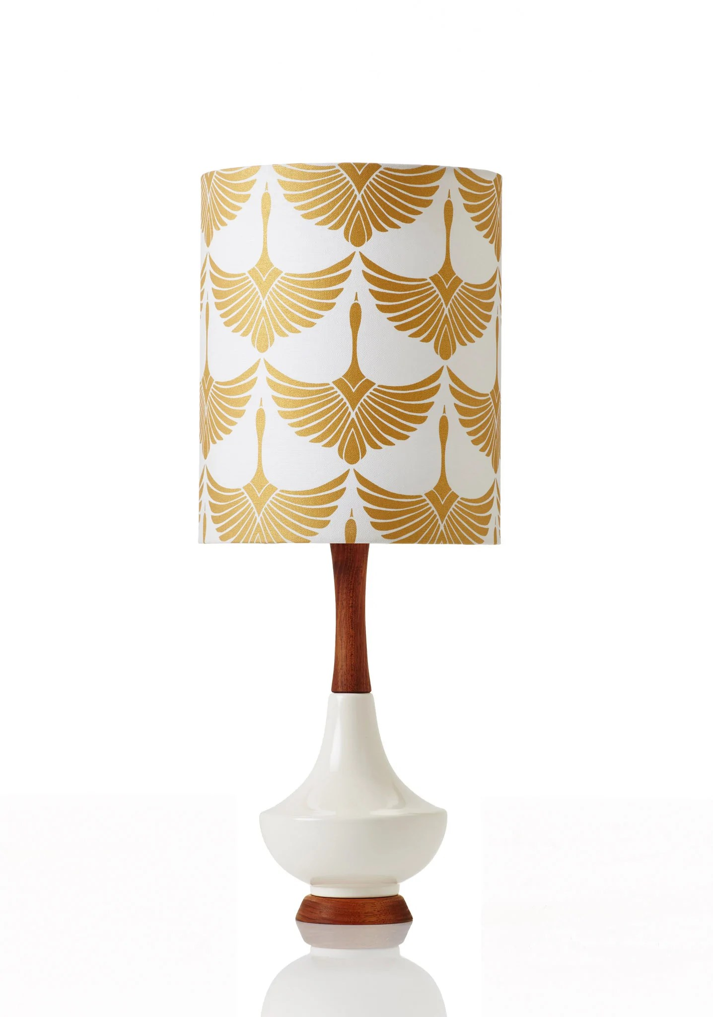 Retro Print Revival - Mid Century inspired lamps and planters