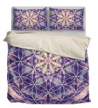 Flower Of Life Bedding Duvet Cover Bed Sheet - YesWeVibe
