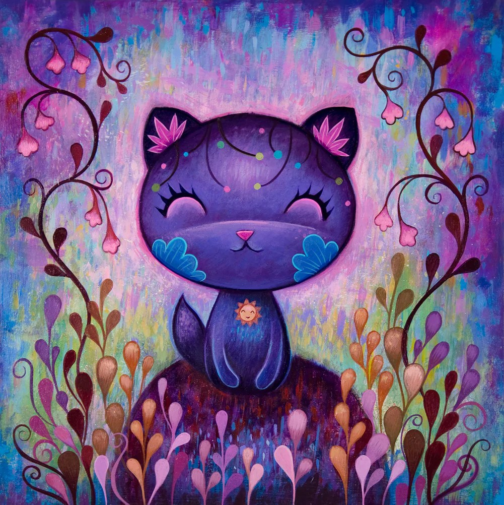 flower kitty fine art