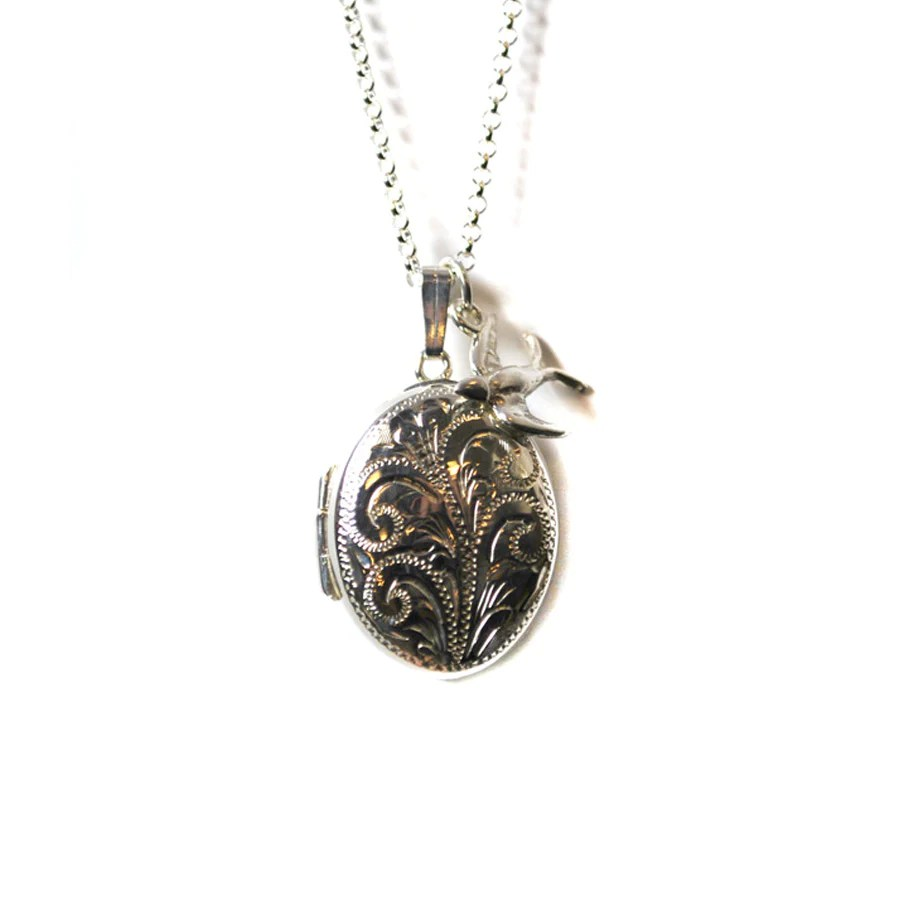 engraved locket necklace the
