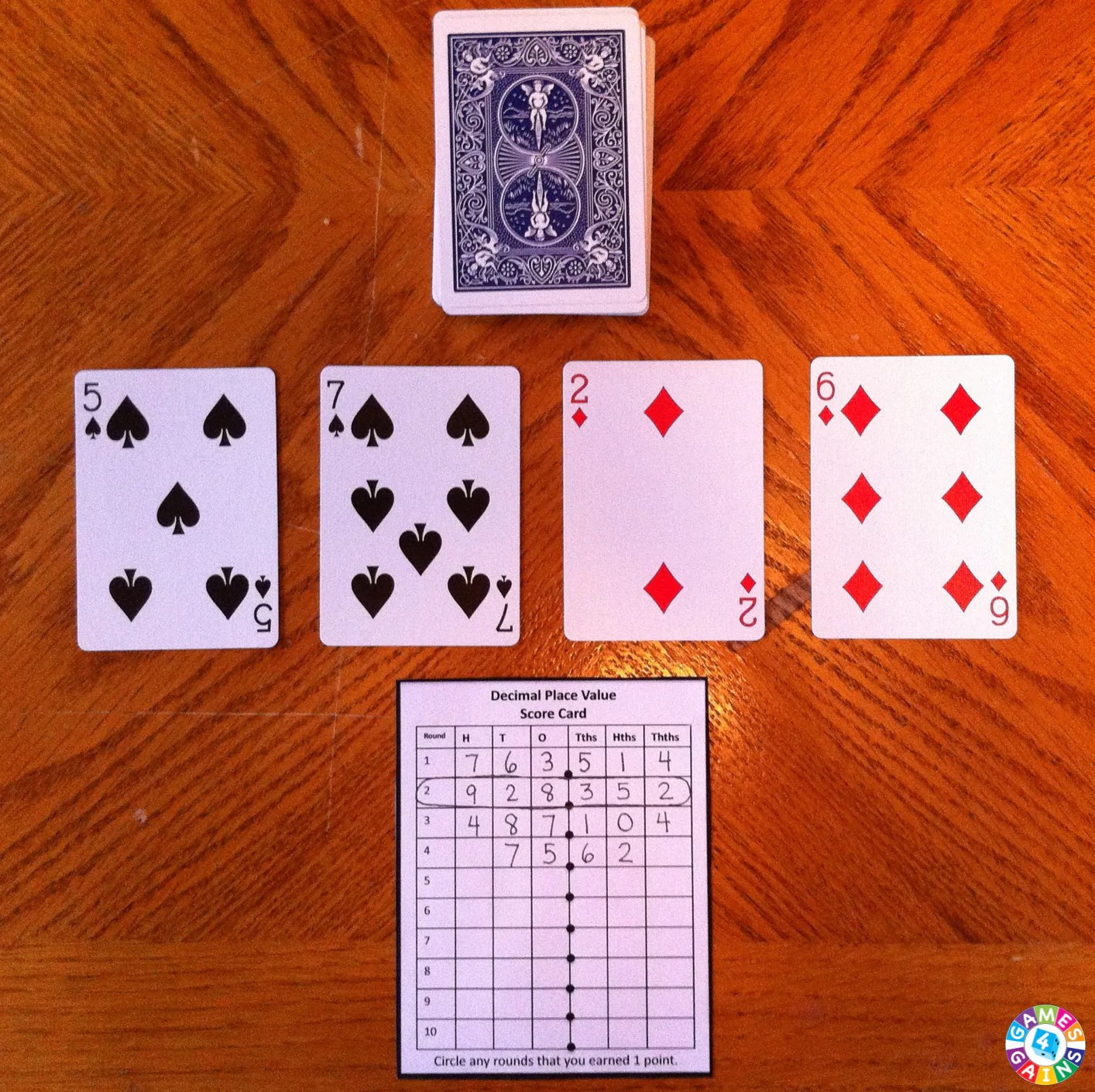hight resolution of Decimal Place Value With Playing Cards! – Games 4 Gains