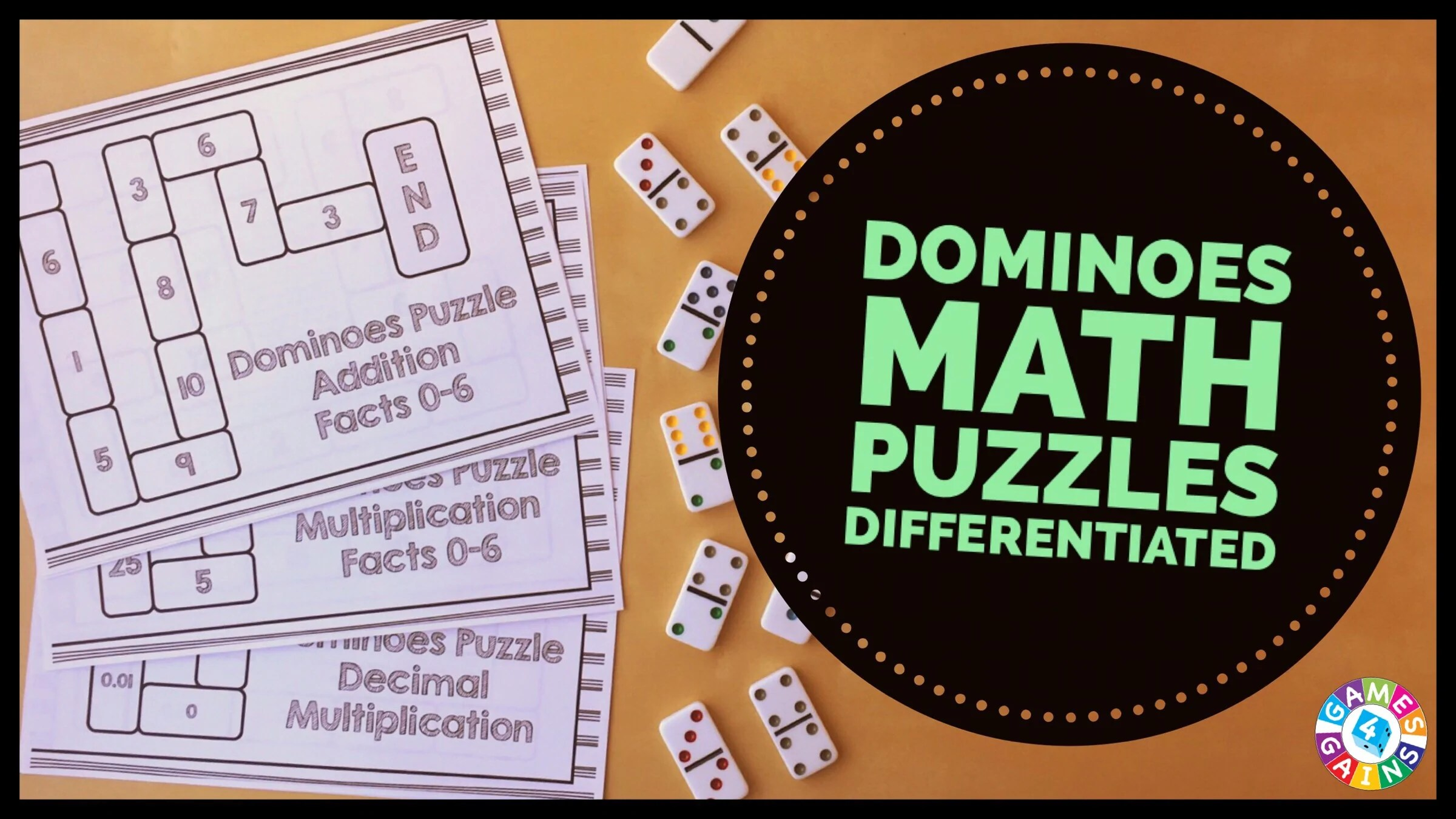 Use Basic Facts to Solve These Dominoes Math Puzzles! – Games 4 Gains [ 1350 x 2400 Pixel ]