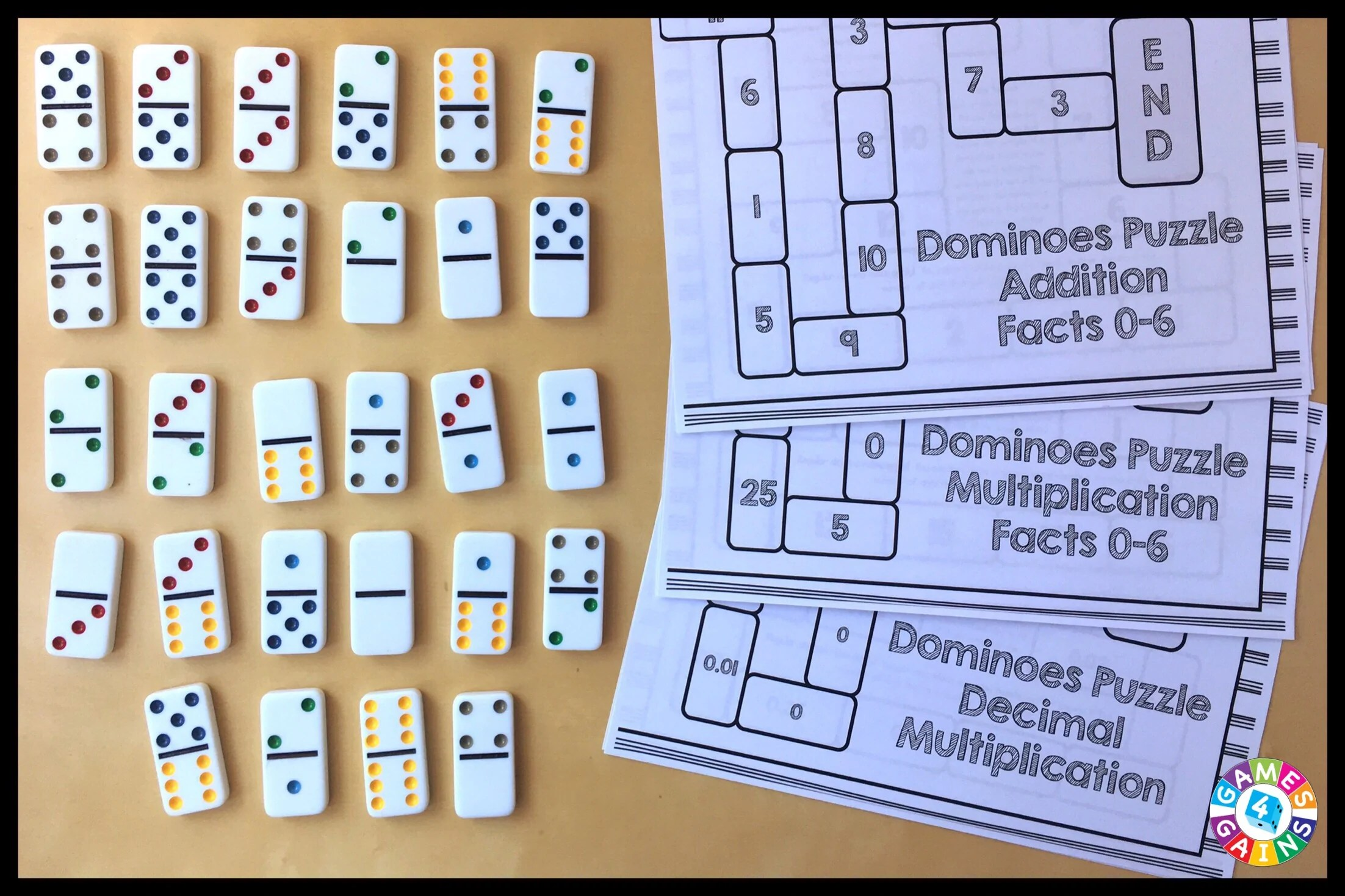 hight resolution of Use Basic Facts to Solve These Dominoes Math Puzzles! – Games 4 Gains