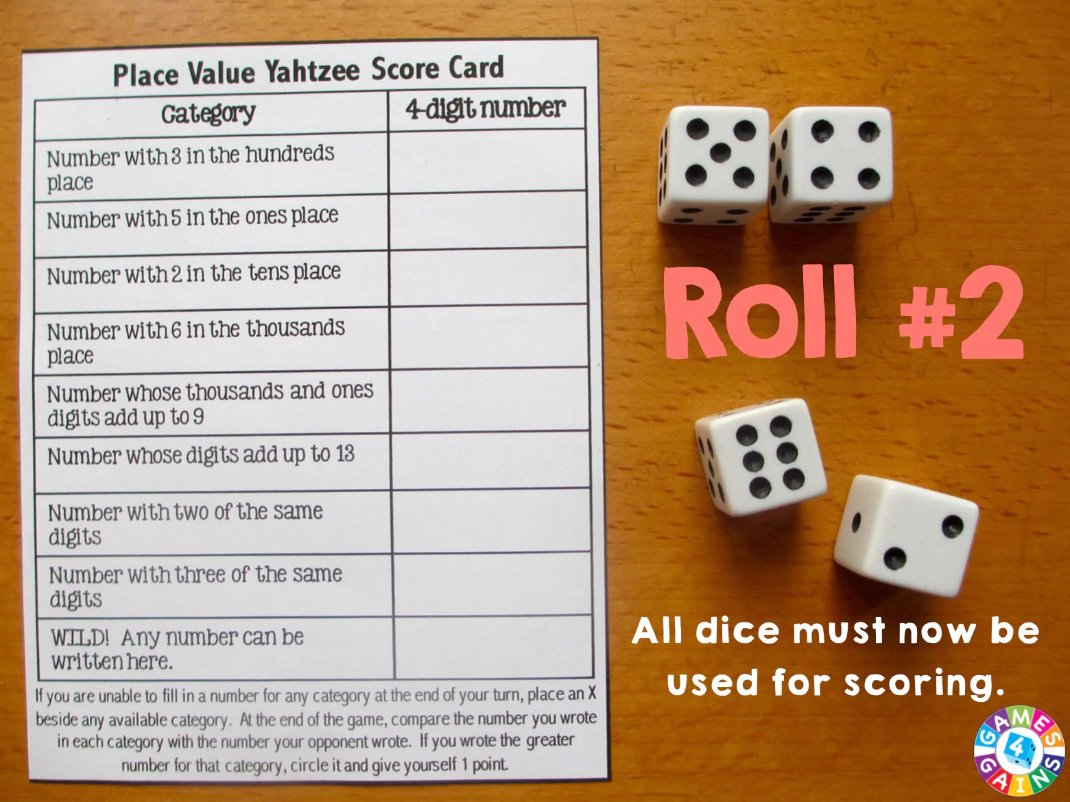 hight resolution of Score Some Points with Place Value Yahtzee! – Games 4 Gains