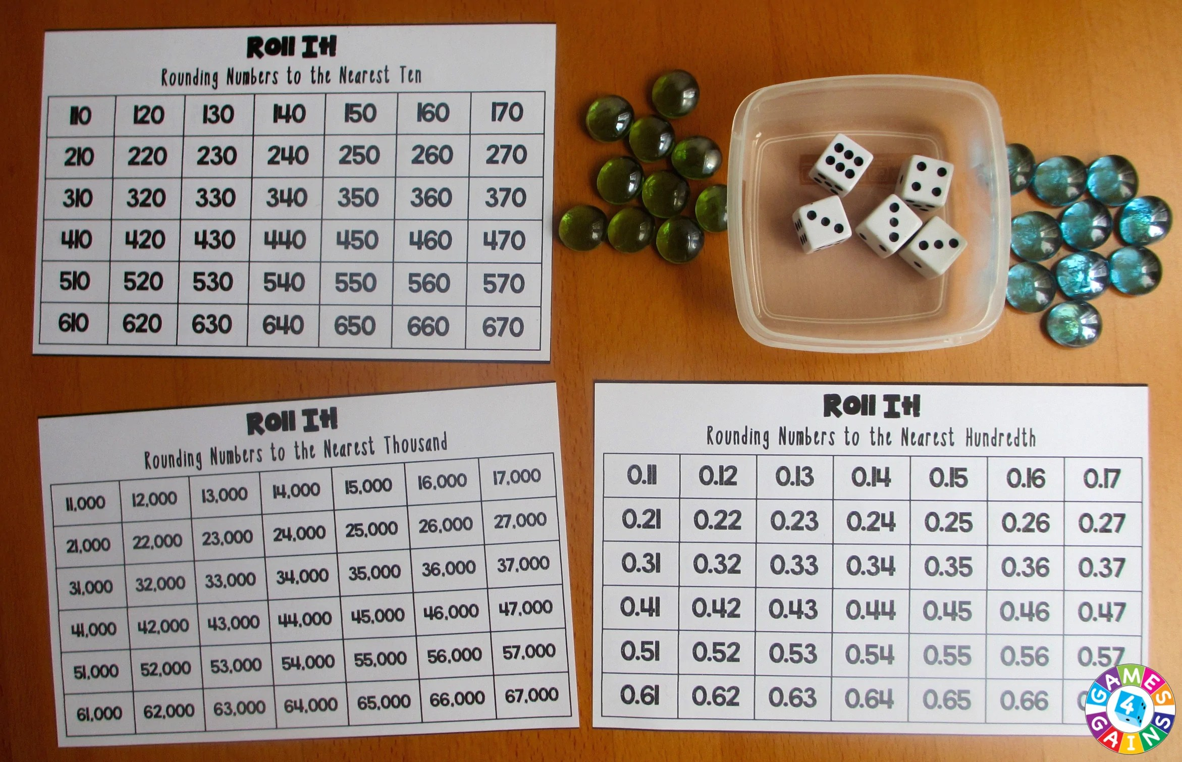 hight resolution of Roll It! Rounding Game – Games 4 Gains