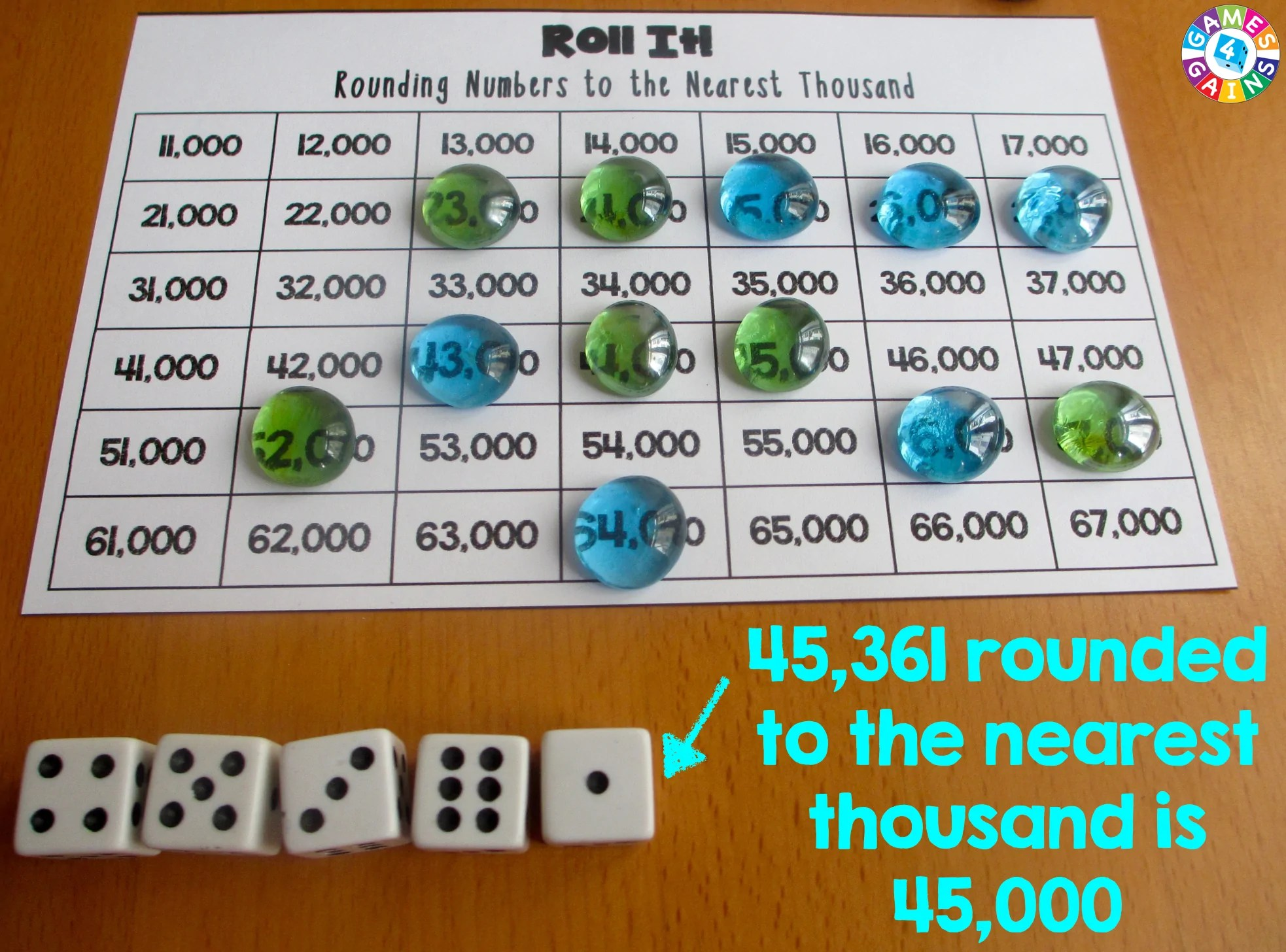 medium resolution of Roll It! Rounding Game – Games 4 Gains