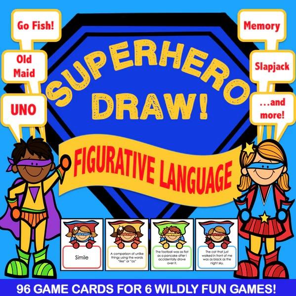 Figurative Language 'Superhero Draw' – Games 4 Gains