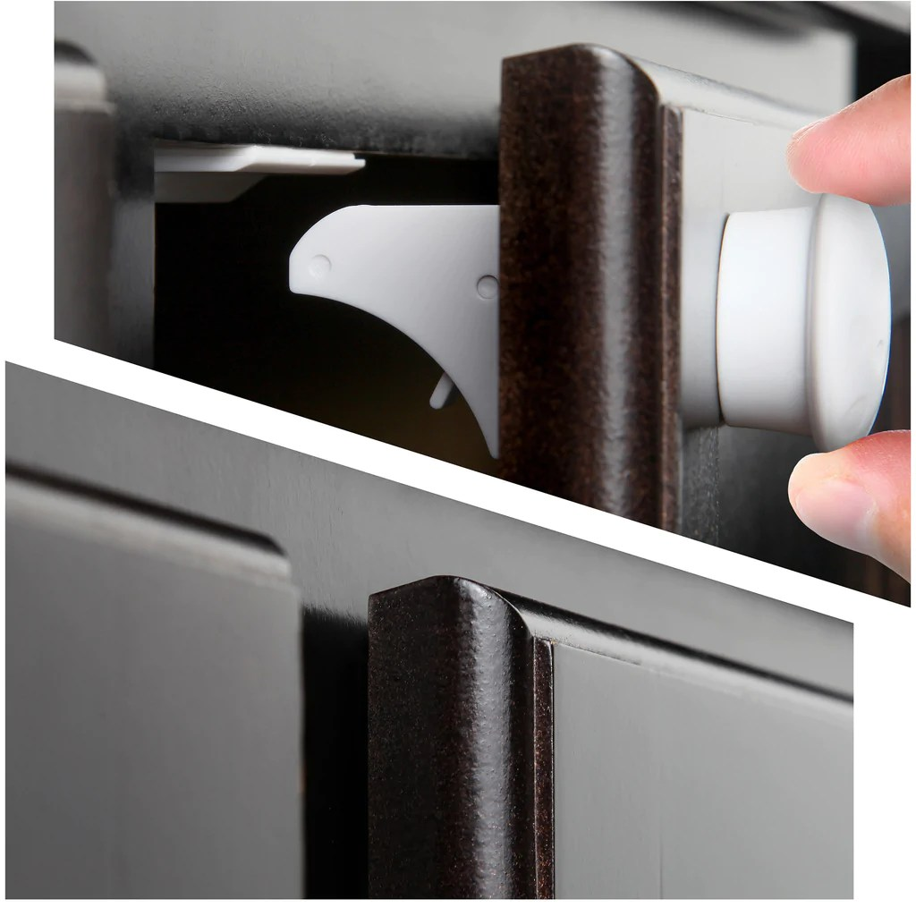 Safety Baby Magnetic Cabinet Locks  No Tools Or Screws