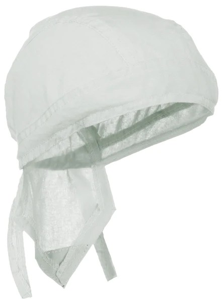 White Solid Doo Rag Blanco Headwrap Durag Skull Cap Cotton