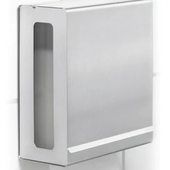 Stainless Steel Kitchen Soap Dispenser Wall Mounted Paper Towel For C-fold Towels – Blomus