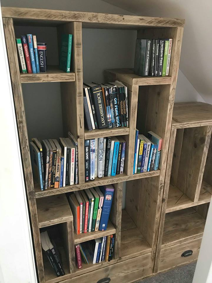 book case made from